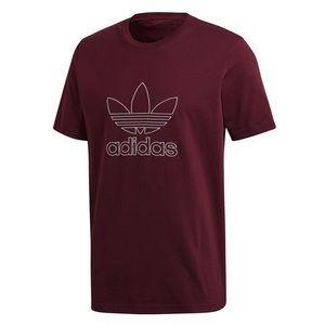 ⚡️ Adidas Trefoil Maroon Outline Short Sleeve Top